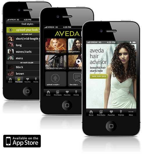 Aveda Apps Hair Style Trends And Tips - Beautiful hairstyle salon app