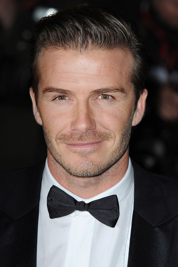 david beckham short slick hair