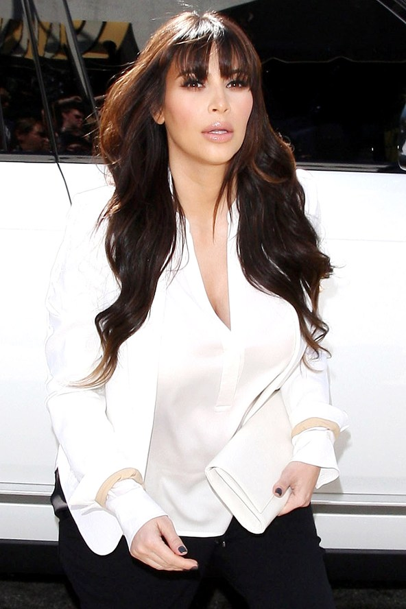 kim kardashian beautiful bangs