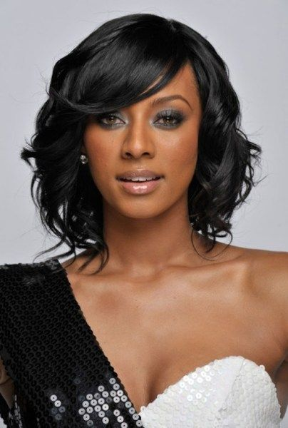 bob cut with curls