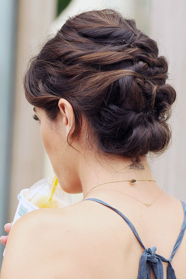 intricate curling updo