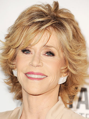 jane fonda choppy layered bob