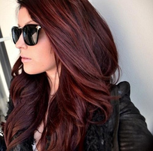 dark red and brown hair color
