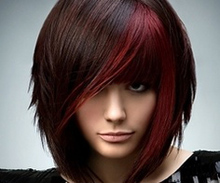 red and brunette color